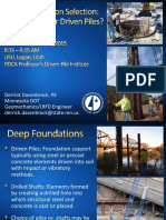 Deep Foundation Selection Driven Pile or Drilled Shafts Dasenbrock