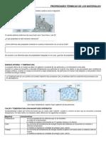 Ficha de Trabajo - Temperatura, dilatación térmica y termómetros