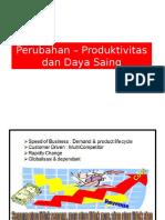 Perubahan – Produktivitas Dan Daya Saing