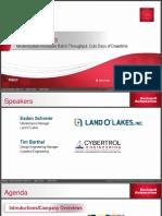 AP14 - Land O'Lakes Modernization Increases Batch Througput ROKTechED 2016