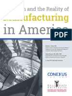Myth And Reality of Manufacturing in America