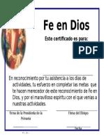 Certifica Do de Feen Dios 1