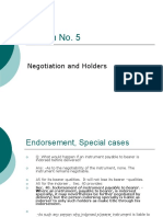 Negotiation and Holders