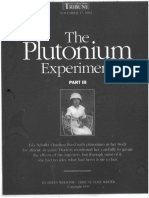 The Plutonium Experiments