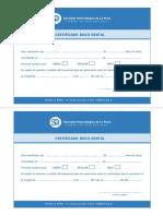 certificado bucodental
