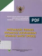 2010_KepMenKes RI Nomor 1426MENKESSKXII2006 Petunjuk Teknis Promosi Kesehatan Rumah Sakit %28PKRS%29.pdf