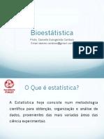 Aula 1 Bioestatistica