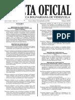 Gaceta Oficial Número 40.981 de la República de Venezuela, 05 de septiembre de 2016