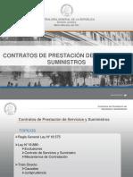 CGR - Cttos. de Prestacion de Servicios y Suministros
