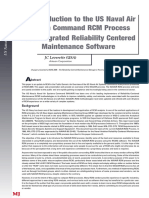An Introduction to the US Naval Air System Command RCM Process and Integrated Reliability Centered Maintenance Software