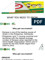 Dengue Vaccine Presentation for Health Workers (for Orientation)