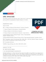 ORD. Nº0141_005 - Normativa Laboral. Dirección Del Trabajo. Gobierno de Chile-serv. Discontinuos o Esporadicos