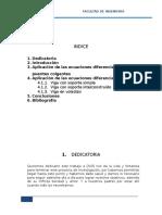 Ecuaciones diferenciales en la vigas y puentes colgantes