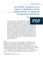 Exploratory Factor Analysis as a Construct Validation Tool