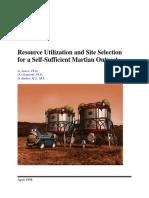 1998-ResourceUtilizationAndSiteSelectionForASelf-SufficientMartianOutpost