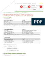 St Vincent Electric Service - Electricity Rate Structure and Fuel Surcharge