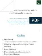 Distributed Event Identification for WSNs in Non-Stationary Environments