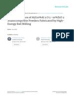 Characterization of Al(10%Al2O3-10%ZrO2)Nanocomposite