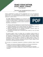 Carta Compromiso Del Representante Legal y Estudiante