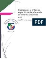 Cuáles Son Los Operadores y Criterios Específicos de Búsqueda de Información en La Web
