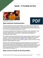 Aepfel Und Apfelsaft 5 Vorteile Fuer Ihre Gesundheit
