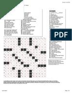 Crossword 1 english student