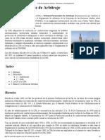 Corte Permanente de Arbitraje - Wikipedia, La Enciclopedia Libre