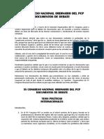 1) Debate Tesis Políticas XV Congreso Nacional PCP