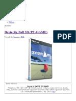 Dexterity Ball 3D (PC-GAME) - IntercambiosVirtuales