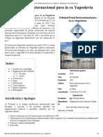 Tribunal Penal Internacional Para La Ex Yugoslavia - Wikipedia, La Enciclopedia Libre