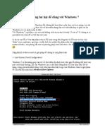 Khôi Phục Hệ Thống Hư Hại Dễ Dàng Với Windows 7