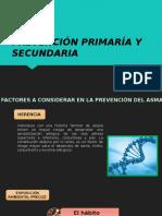 Prevención Primaría y Secundaria del Asma