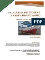 PESCA ARTESANAL - PROPUESTA DE PROGRAMA DE HIGIENE Y SANEAMIENTO