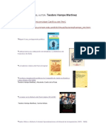 Publicaciones Del Autor Teodoro Hampe Martínez