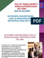 ACCIONES CONCERTADAS CON MUNICIPALIDAD DE LIMA
