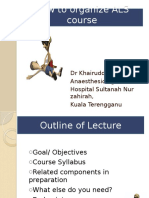 How to Organize an ACLS Course Presentation