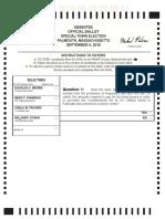 Falmouth Special Election Ballot Sept. 8, 2016