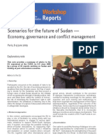 Scenarios for future of Sudan - Economy, Governance and Conflict Management