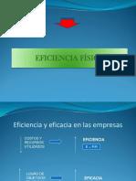 2.- Eficiencia física