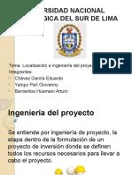 Localizacion de Ingenieria Proyectos