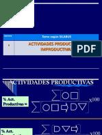 6.- Actividades Productivas e Improductivas