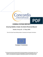 Concordis International - Final Report of NBO Consultation May09