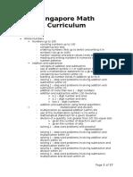 Singapore Math Curriculum (Grade 1 - 6)