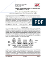 Pin Profile and Shoulder Geometry Effects in Friction Stir Spot Welded Polymer Sheets