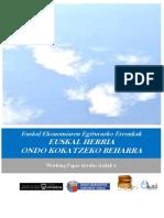Euskal Ekonomiaren Egiturazko Erronkak. EUSKAL HERRIA ONDO KOKATZEKO BEHARRA