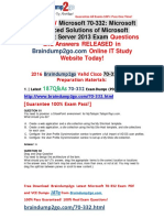 [Sep-2016-New]Braindump2go 70-332 Practice Test 187Q&as 81-90