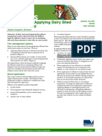 Applying Dairy Shed Effluent to Land