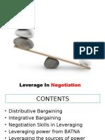 Leverage in Negotiation