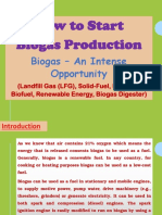 How to Start Biogas Production, Biogas – An Intense Opportunity (Landfill Gas (LFG), Solid-Fuel, Biomass, Biofuel, Renewable Energy, Biogas Digester)