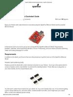 SparkFun Ethernet Shield Quickstart Guide - SparkFun Electronics